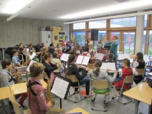 Eine Probenstunde der Musikklasse