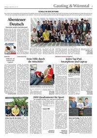 Schule in der Zeitung - ein Projekt der Klasse 8 b